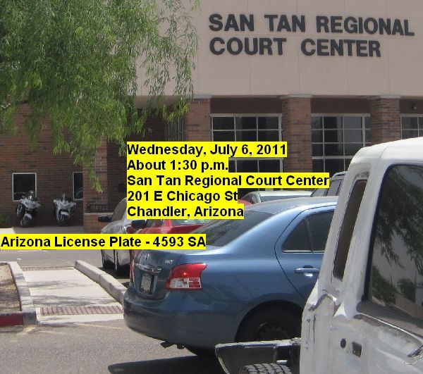 Arizona Highway Patrol Motorcycle Police Officers Illegally Parked at San Tan Municipal Court
