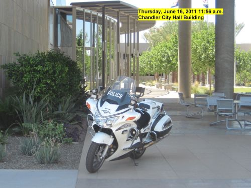 Chandler Police Officers can't legally park their cars or motorcycles